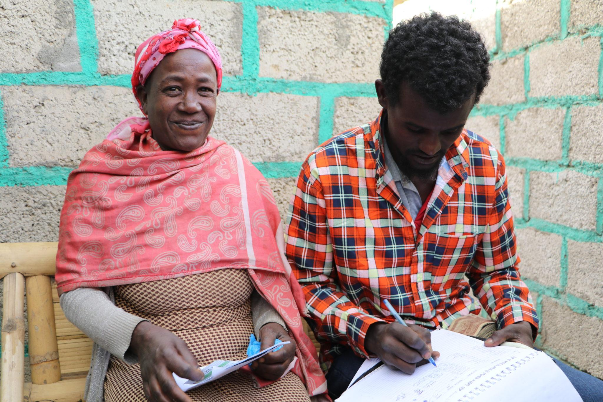 Woman using M-Birr service in Ethiopia