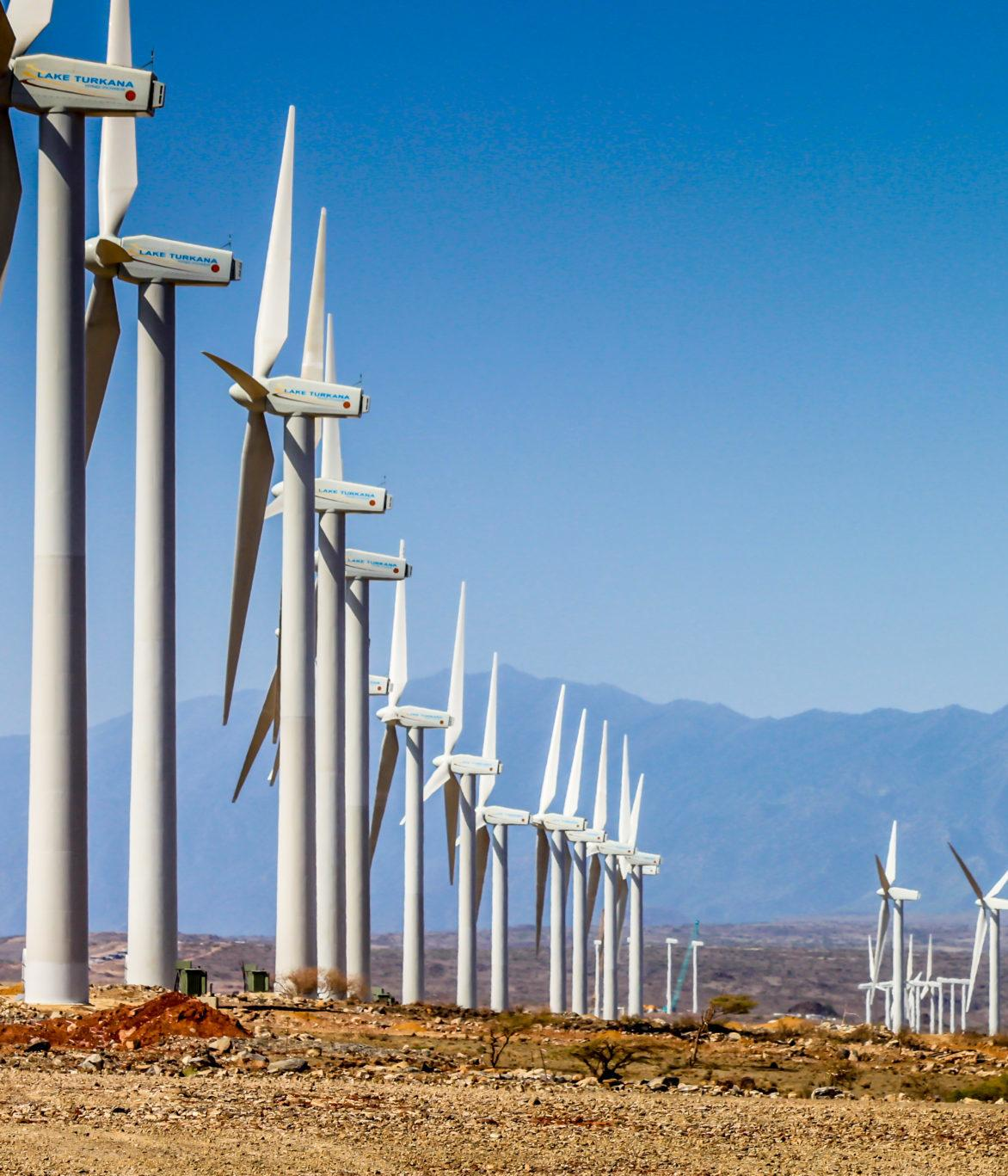 Lake Turkana wind farm in Kenya